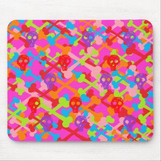 Multicolor Crossbones Mouse Pad