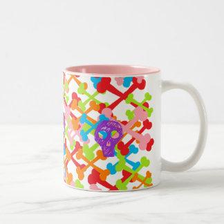 Multicolor Crossbones Two-Tone Coffee Mug