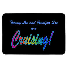 Multicolor Cruising On Black Stateroom Door Marker Magnet at Zazzle