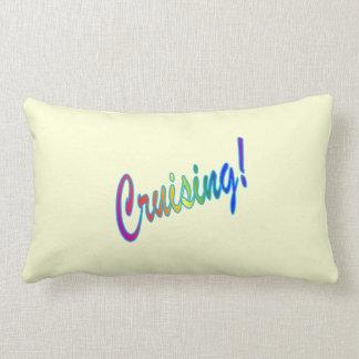 Multicolor Cruising on Yellow Lumbar Pillow