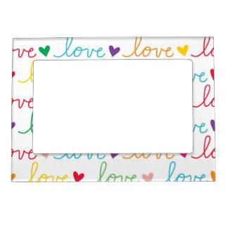 Multicolor Cursive Love Heart Frame