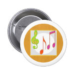 Multicolor Dancing Music Symbols Buttons