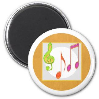 Multicolor Dancing Music Symbols Magnet