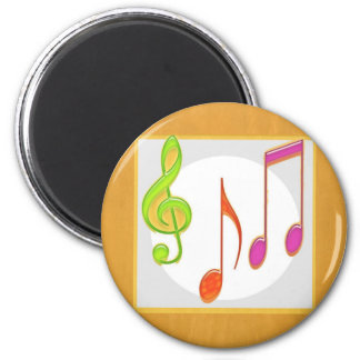Multicolor Dancing Music Symbols Fridge Magnets