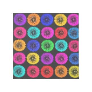Multicolor Dandelion Puffs Design Gallery Wrap