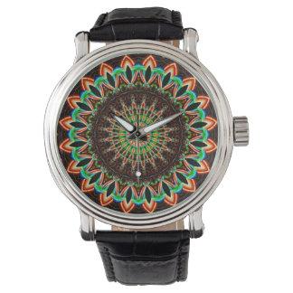 Multicolor de la mandala creado por Tutti Reloj