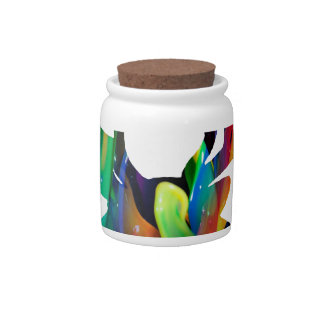 MULTICOLOR DEER HORN PRODUCTS CANDY JAR