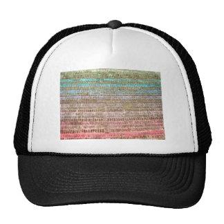 Multicolor design pattern trucker hat