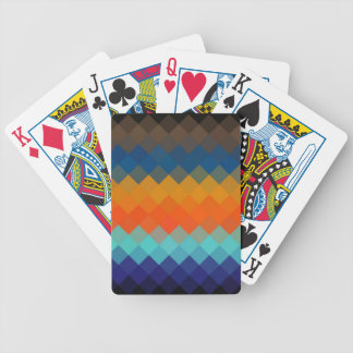Multicolor Diamond Seamless  2 Bicycle Playing Cards