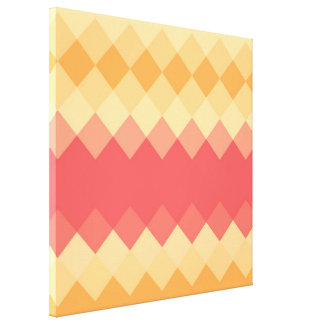 Multicolor Diamond Seamless Pattern 3 Canvas Print