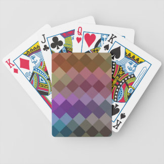 Multicolor Diamond Seamless Pattern 4 Bicycle Playing Cards