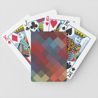 Multicolor Diamond Seamless Pattern 5 Bicycle Playing Cards