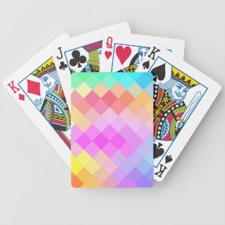 Multicolor Diamond Seamless Pattern Bicycle Playing Cards