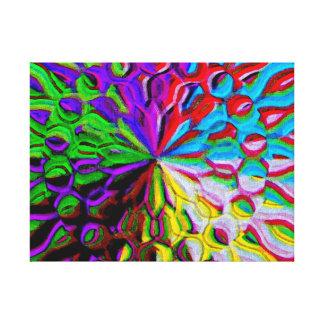 Multicolor Digital Art Canvas Print