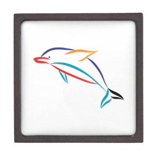 Multicolor Dolphin Jewelry Box