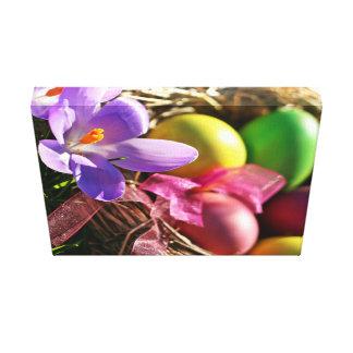 Multicolor Easter Eggs Canvas Print
