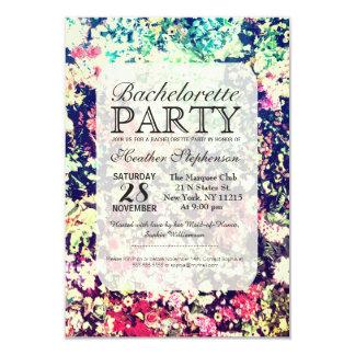 Multicolor Elegant Floral Collage Pattern 3.5x5 Paper Invitation Card