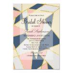 Multicolor Elegant Geometric Triangles 3.5x5 Paper Invitation Card
