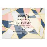 Multicolor Elegant Geometric Triangles 5x7 Paper Invitation Card