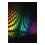 Multicolor equalizer 5x7 paper invitation card