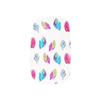 Multicolor Feathers Minx® Nail Wraps