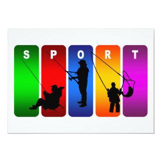 Multicolor Fishing Emblem Card