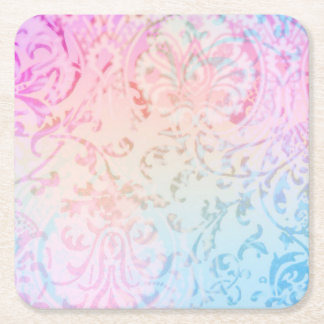 Multicolor Floral Filigree coaster