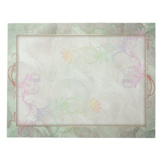 MultiColor Floral Grunge Changeable Border Notepad