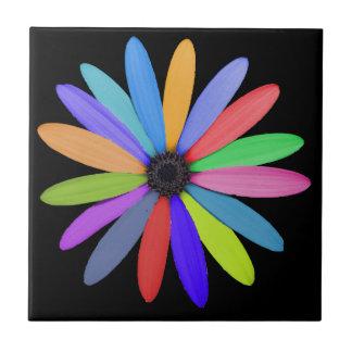 multicolor flower ceramic tile