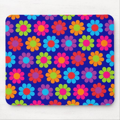 Multicolor Flower Power Mouse Pad