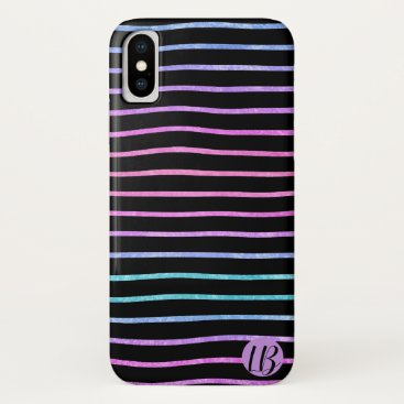 Multicolor Foil Stripes Personalized Phone Case