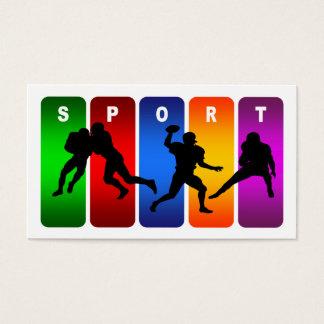 Multicolor Football Emblem Business Card