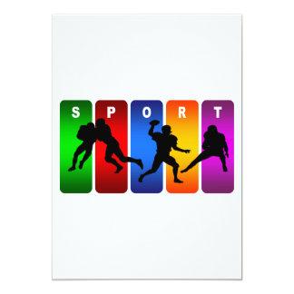 Multicolor Football Emblem Card