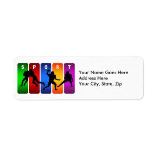 Multicolor Football Emblem Label