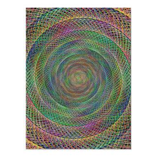 Multicolor fractal 6.5x8.75 paper invitation card