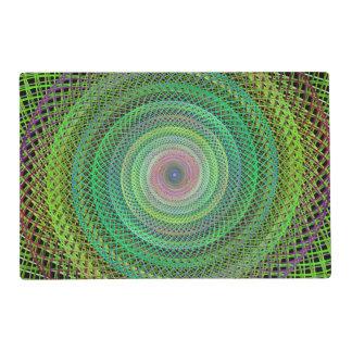 Multicolor fractal placemat