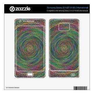 Multicolor fractal samsung galaxy s II skins