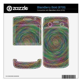 Multicolor fractal decal for BlackBerry