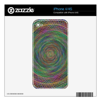 Multicolor fractal decals for iPhone 4S