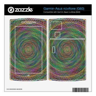 Multicolor fractal garmin asus nuvifone skins