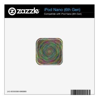 Multicolor fractal iPod nano 6G decals