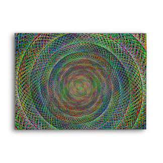 Multicolor fractal spiral envelope