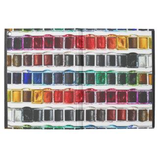 Multicolor fun watercolor paint artist pallet iPad pro case