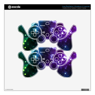 Multicolor Galaxy Decal For PS3 Controller
