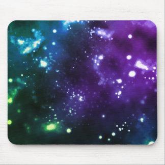 Multicolor Galaxy Mouse Pad