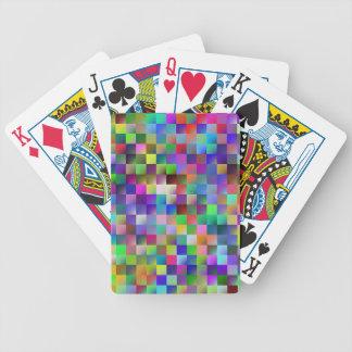 multicolor geometric abstract poker karten