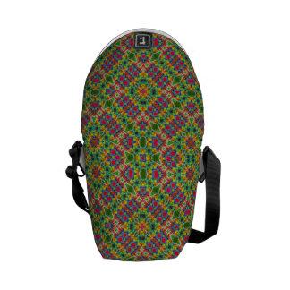 Multicolor Geometric Ethnic Seamless Pattern Messenger Bag