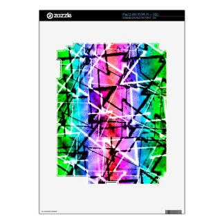 Multicolor Geometric Grunge iPad 2 Decals