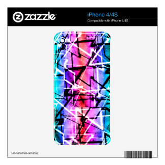 Multicolor Geometric Grunge iPhone 4S Decals