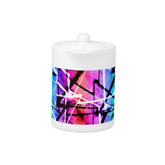 Multicolor Geometric Grunge Teapot
